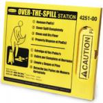 View: 4251 Over-The-Spill Station Kit, Includes: Pad Dispenser, 25 Large Pads and Fasteners
